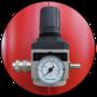 Регулятор давления и манометр